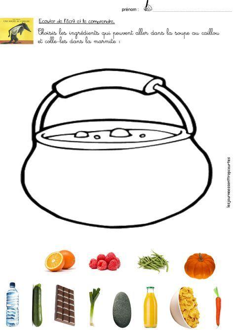 La Soupe Au Caillou Maternelle : soupe, caillou, maternelle, Soupe, Caillou, Carte, Montessori,, Cailloux,, Compter