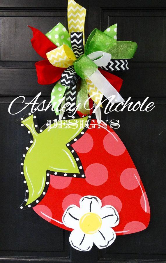 Strawberry Door Hanger Door Decoration Door Hangers Strawberry Decorations Crafts