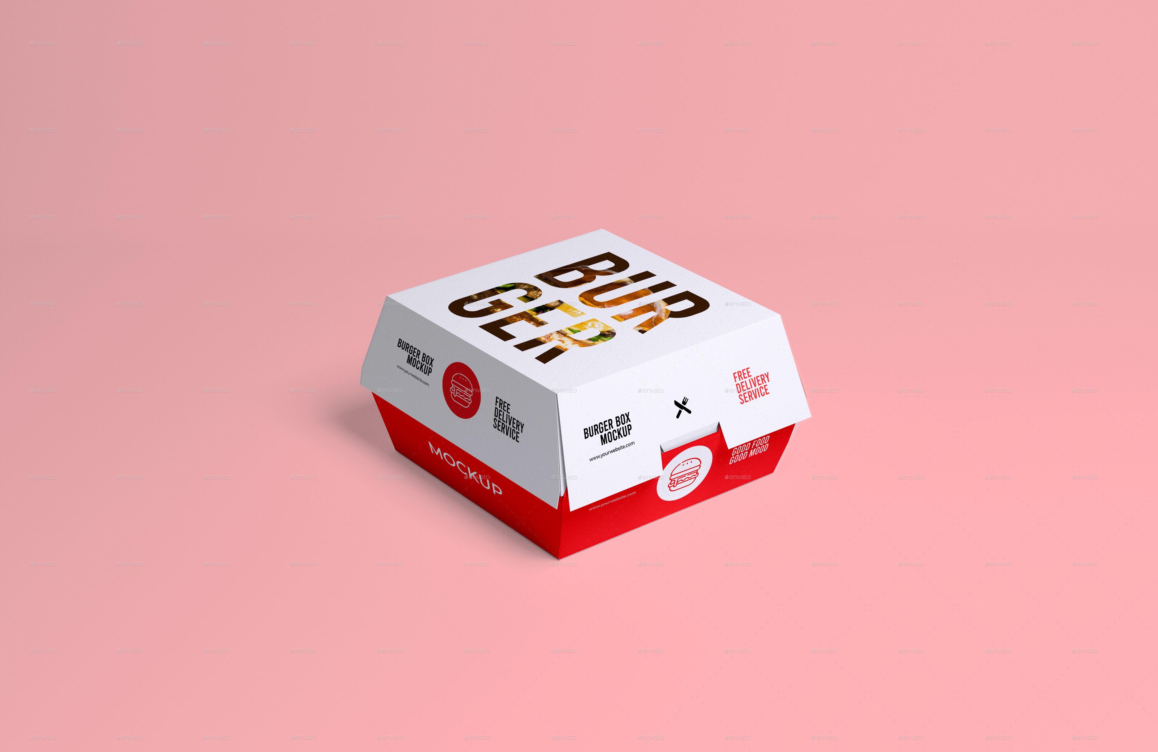 Download Mockup Burger Box Psd Mockup Design Burger Box Mockup Templates