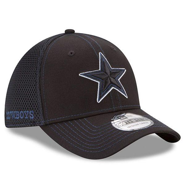 lowest price 6c33e 51303 ... ireland new era dallas cowboys black shock stitch neo 39thirty flex hat  56a5e 76e74