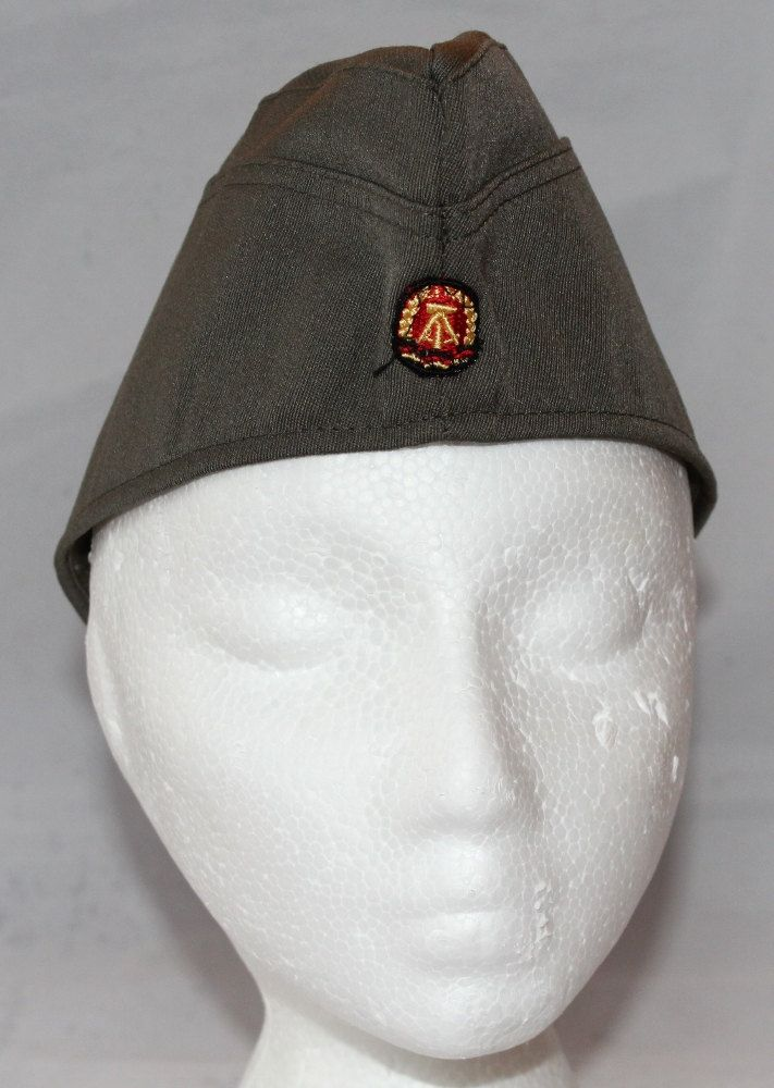 Vintage East Germany Garrison Hat with Insignia, 1970's to 1980's by ilovevintagestuff on Etsy