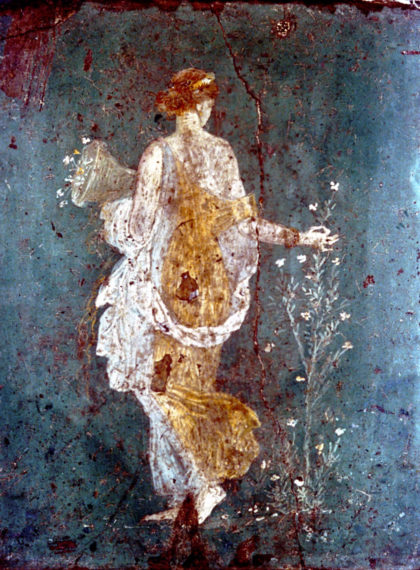 flora from pompeii roman painting roman art ancient art on wall paintings id=60118