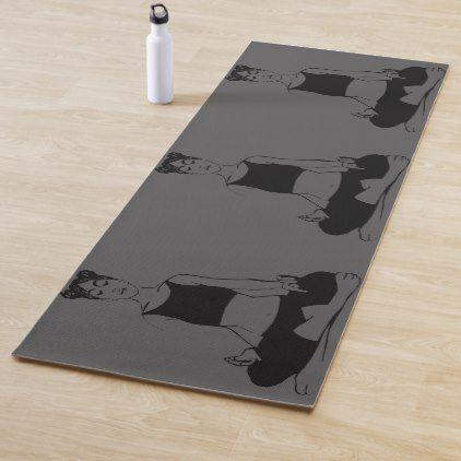 reversible cool black yoga pose silhouette yoga mat