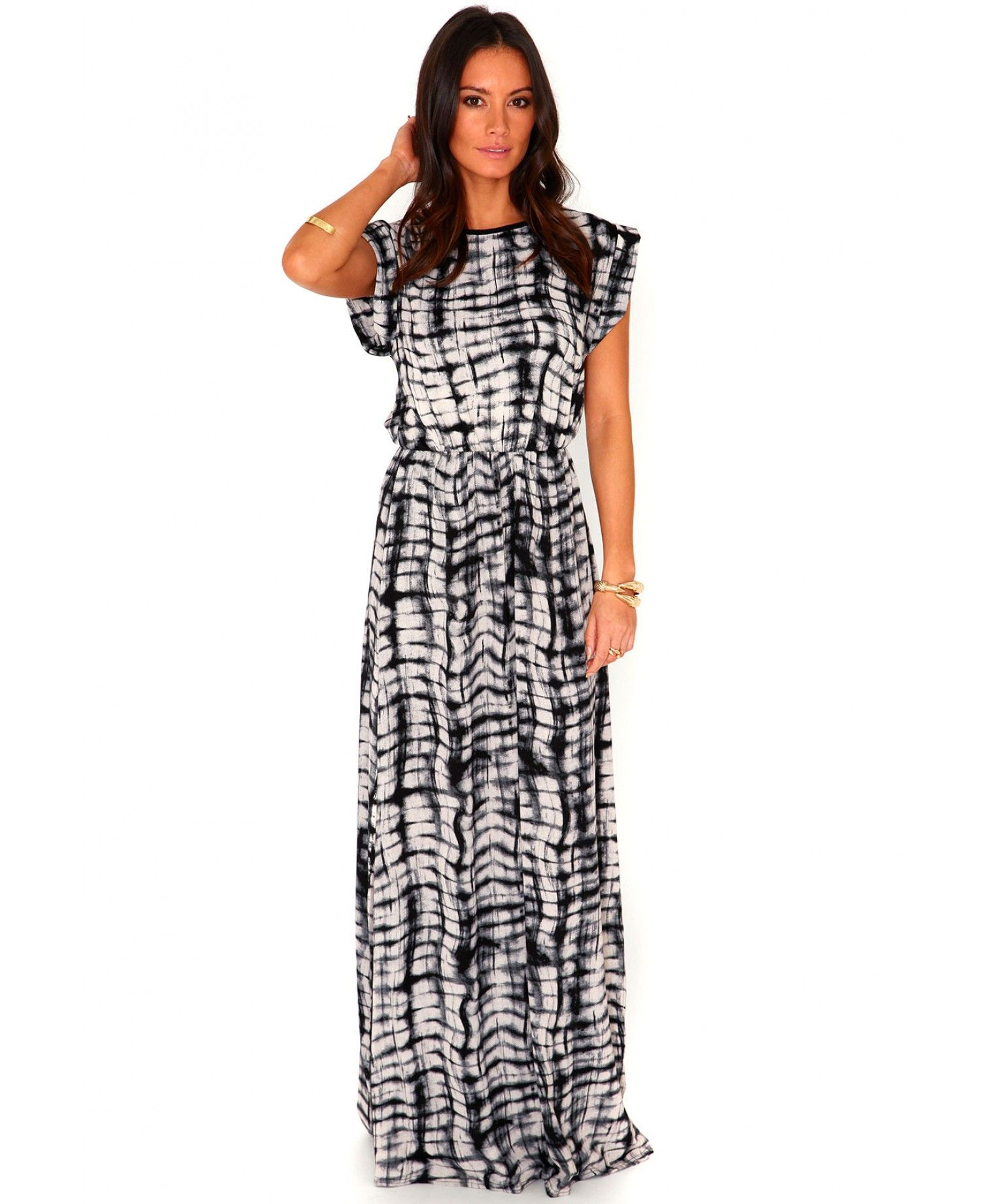 Efryta tie dye rolled sleeve maxi dress dresses maxi dresses