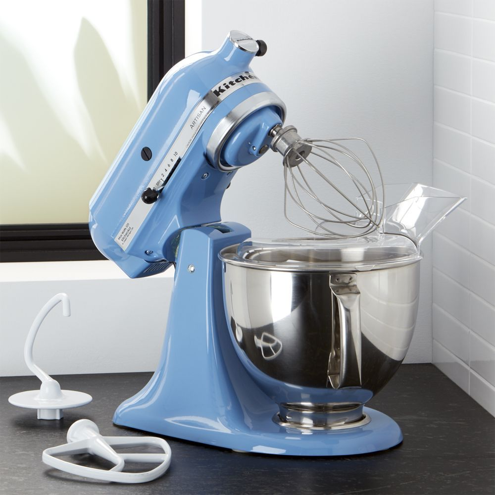 KitchenAid ® Artisan Cornflower Blue Stand Mixer - Crate and ...