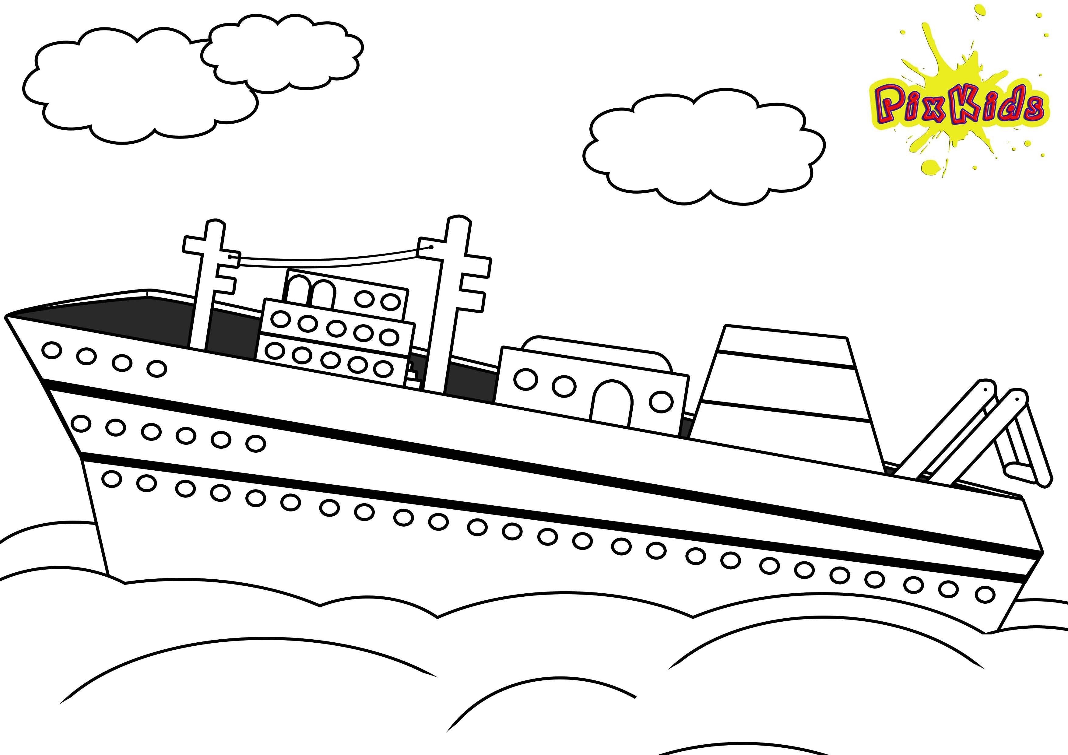 malvorlage schiff einfach - tiffanylovesbooks
