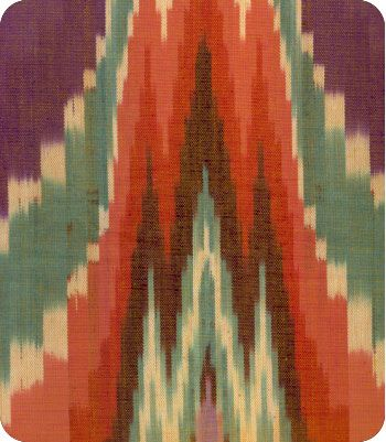 Ikat Fabric at online fabric store Lewis and Sheron Textile www.lsfabrics.com
