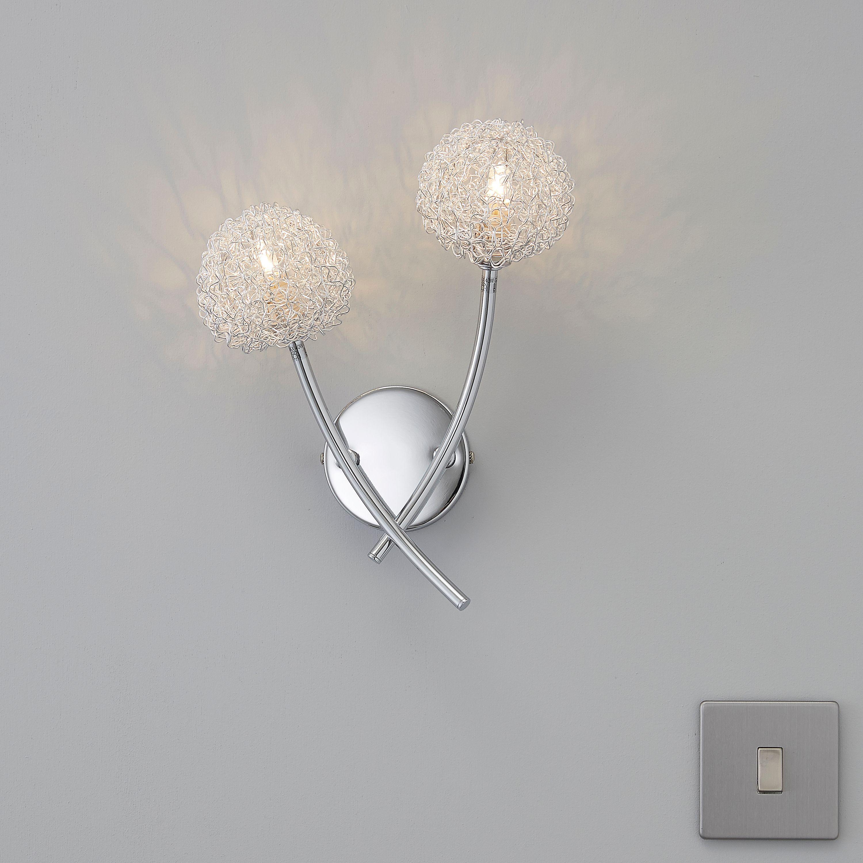 Bedroom Lights B Q: Pallas Chrome Effect Wall Light