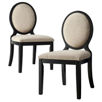 Awesome $199   Armless Morris Oval Back Dining Chair Toast   Set Of 2