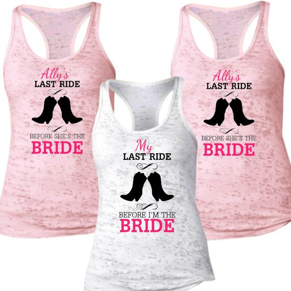 Bachelorette Party Shirts Could Get In Different Colors For Bride Bridesmaids And Others To Distinguish Wedding