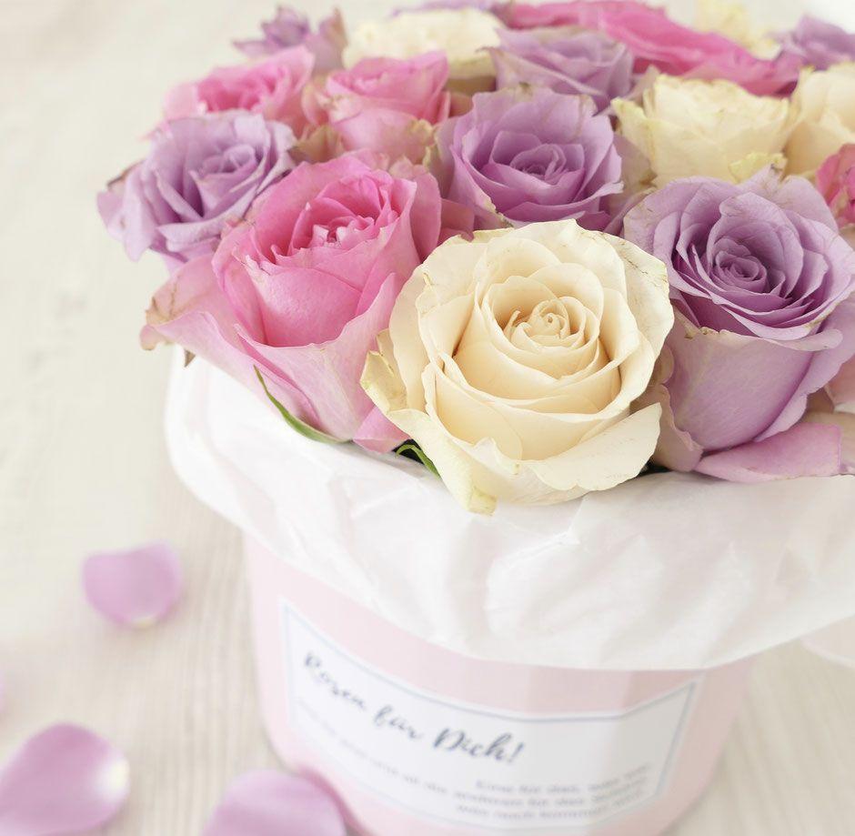 Zauberhafte Rosen In Der Box Blumen Rosen Box