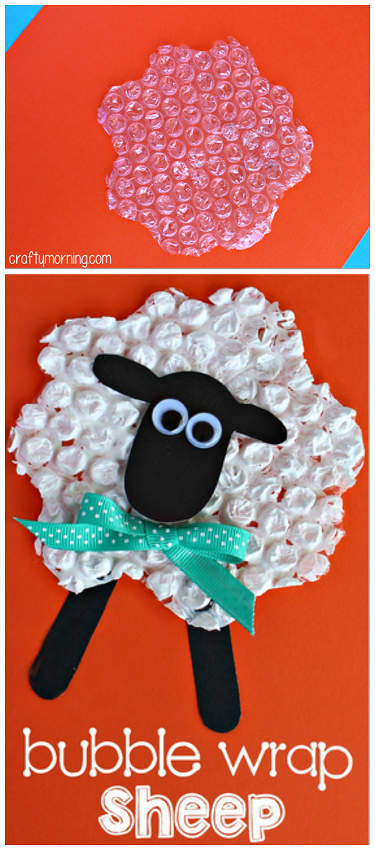 Bubble Wrap Sheep Craft For Kids Creative Art Project
