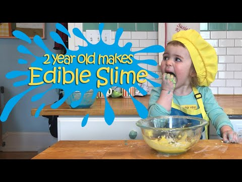 Two Year Old Susie Makes Fast and Easy Edible Slime: Susie's Cooking Show