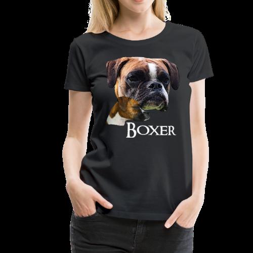 Boxer Deutscher Boxer Hundekopf Hunde Hunderasse Frauen Premium T Shirt Shirt Designs Shirts T Shirt