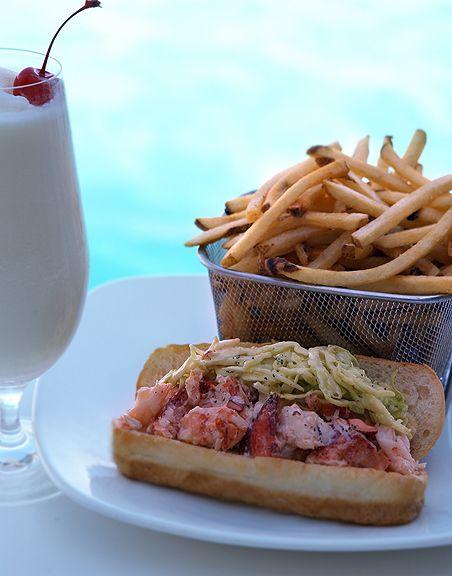 Fresh Seafood At Aquarius Restaurant In Santa Cruz California
