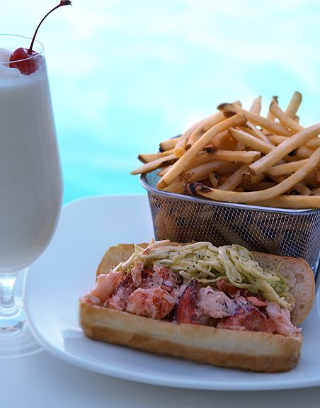 Lobster Roll Anyone Fresh Seafood At Aquarius Restaurant