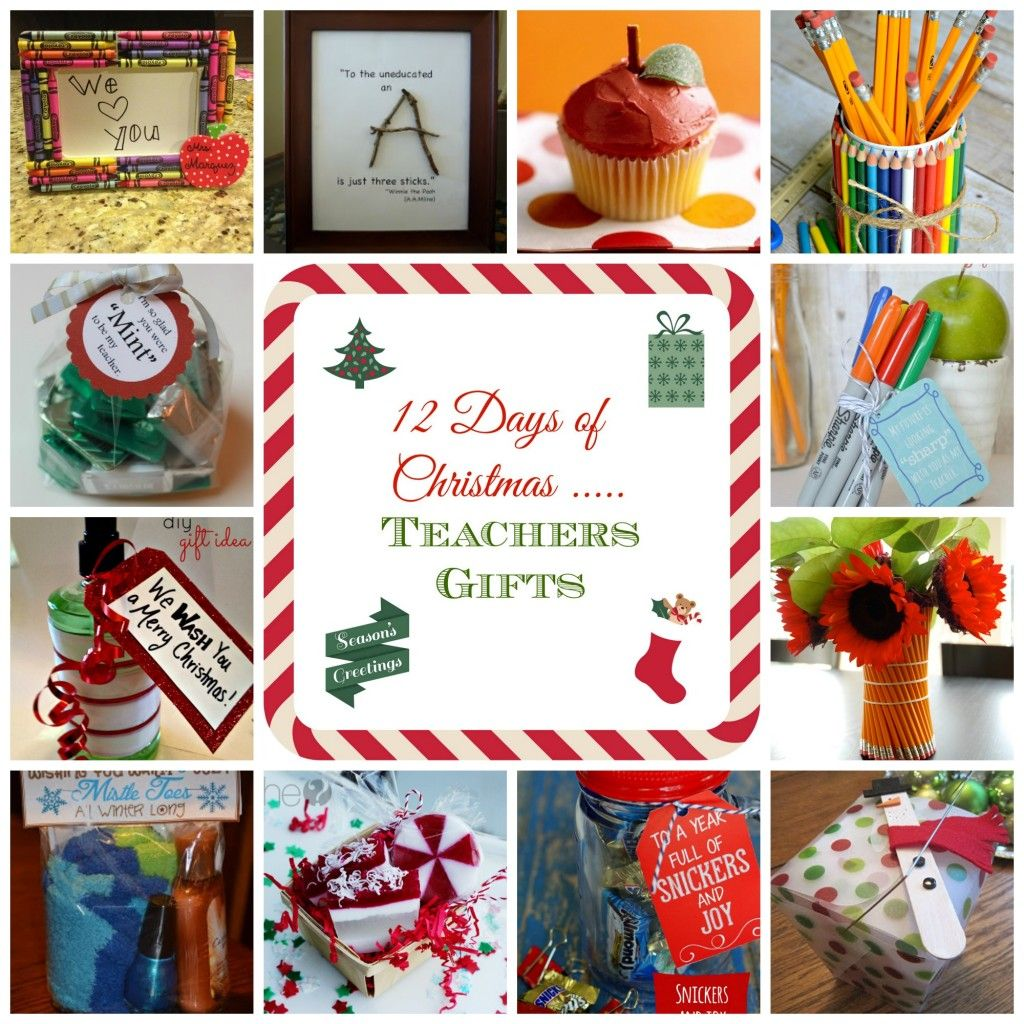 12 Days Of Christmas Teacher Gift Ideas Diy Teacher Christmas Gifts Teacher Christmas Gifts Teacher Gifts Christmas Ideas