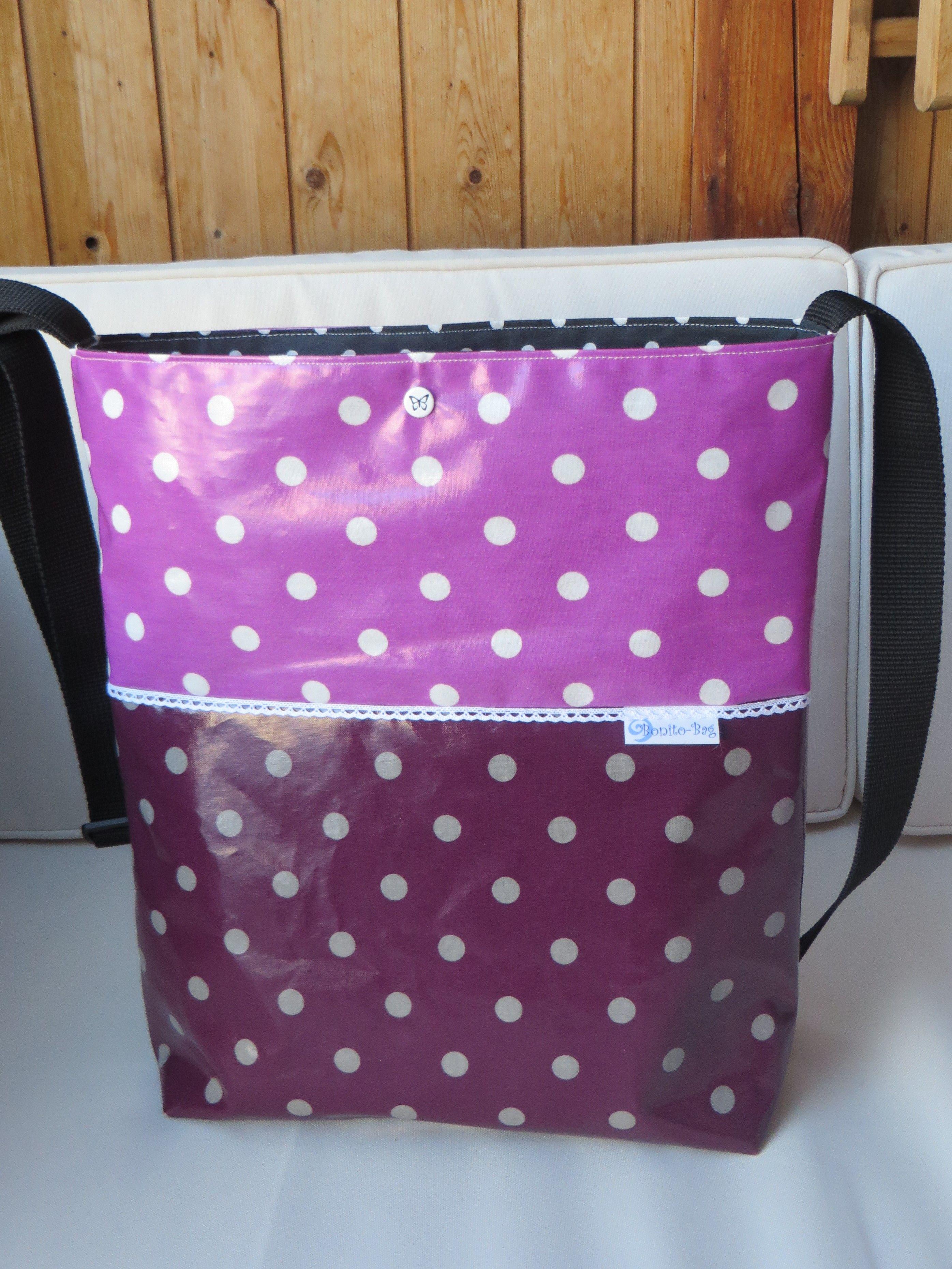 shopper tasche aus wachstuch n hen wachstuch taschen taschen n hen und wachstuch. Black Bedroom Furniture Sets. Home Design Ideas