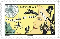 Timbre Araignee Du Soir Espoir Araignee France Araignee Du Soir Timbres De France