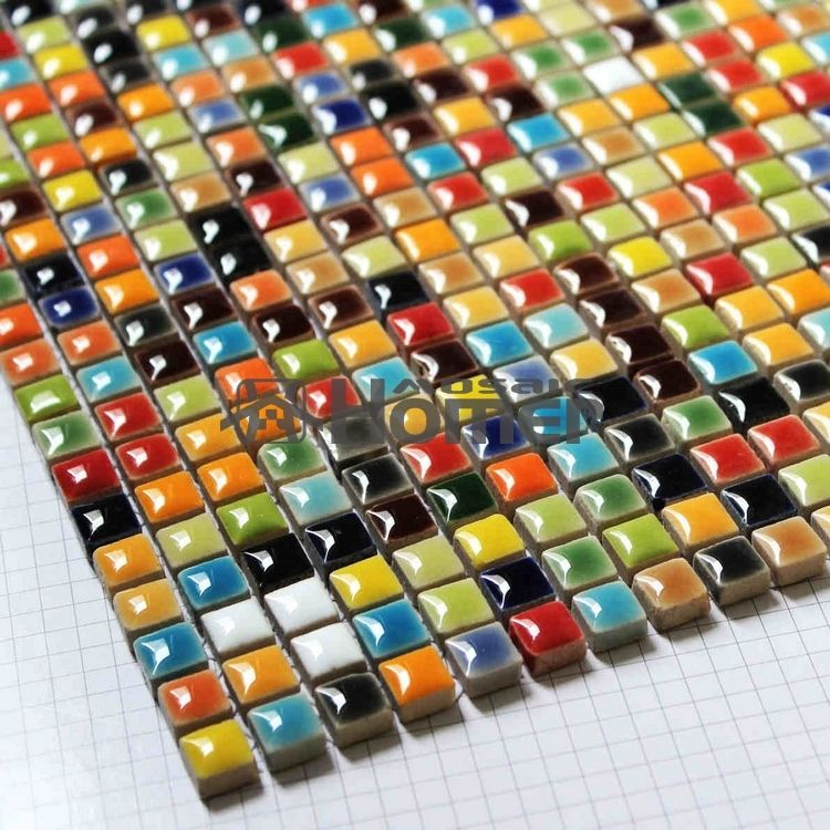 Shipping Free Multi Colors Mini 3 8 Ceramic Mosaic Tile Sheet Homer Hme7057 11 Sq Ft Lot In Mosaics From Home Improvement On A