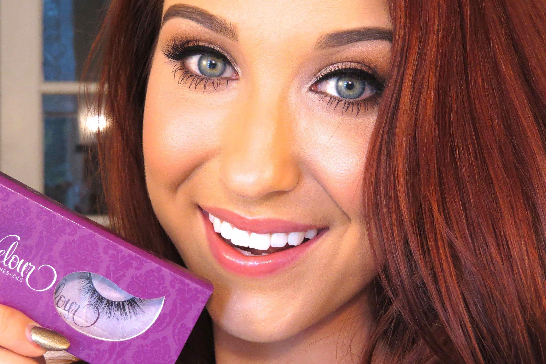 how to put on fake eyelashes easy