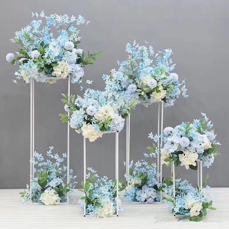 80cm Tall Wedding Flower Vase Metal Trumpet Vase For: 60cm 80cm 100cm Tall Flower Vase Gold Column Stand Metal