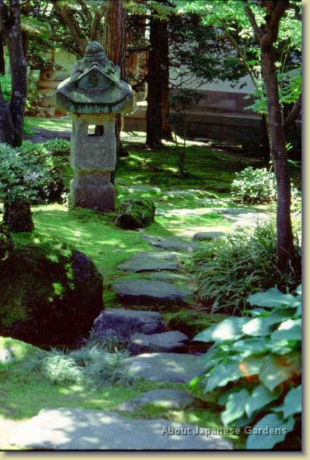 About Japanese Gardens Path With Lantern Jardin Zen Japonais Jardin Japonais Jardin Zen