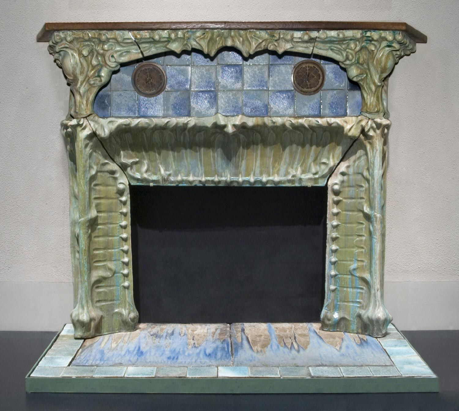 Fireplace Glazed Stoneware Hector Guimard Firm Of