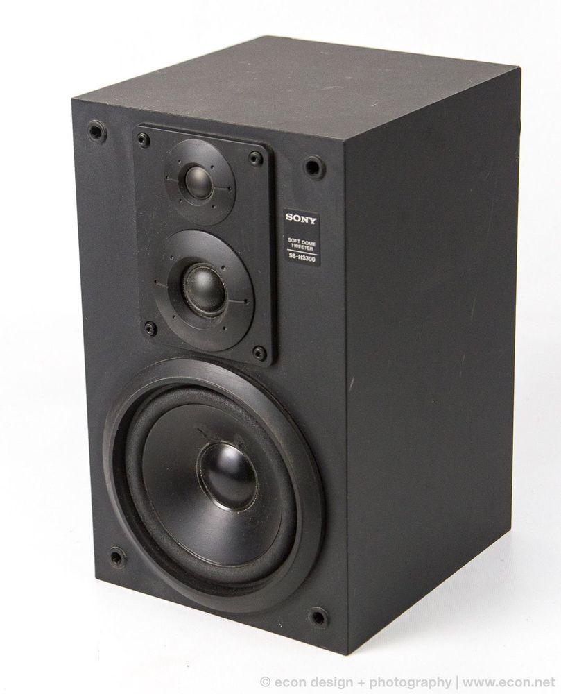 Rare Vintage SONY SS H3300 Single 3 Way Bookshelf Speaker 90W 6 Ohm High Quality