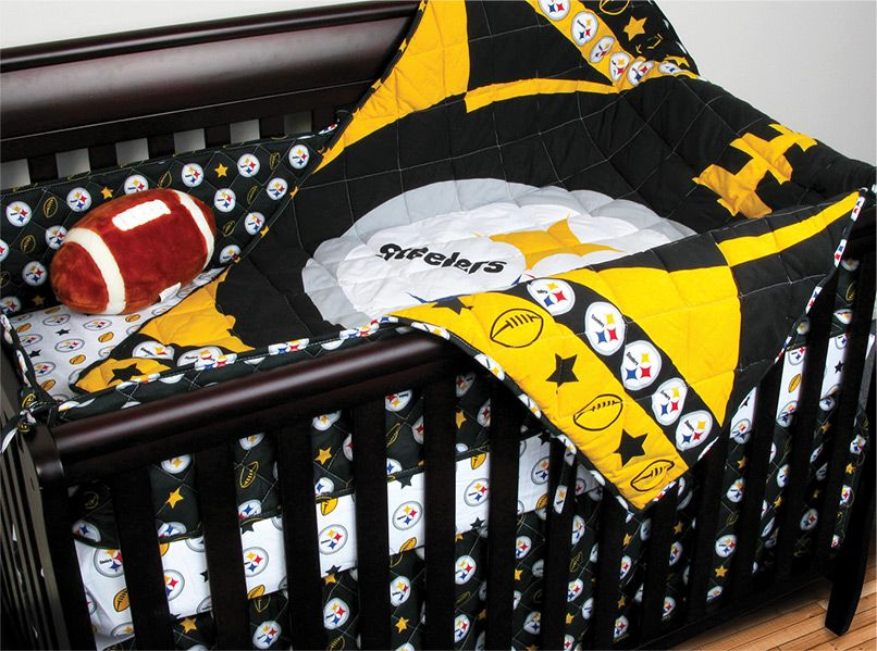 Sports Coverage Now Offers Pittsburgh Steelers Crib Bedding In A Set Which  Includes A Comforter,