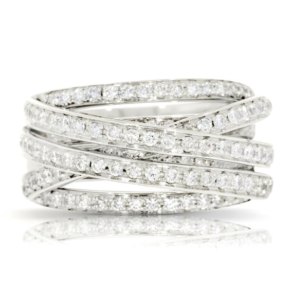 Jewelry & Watches Frank 5ct Round Cut Diamond Two Row Eternity Wedding Ring Band 14k White Gold Finish Fine Rings