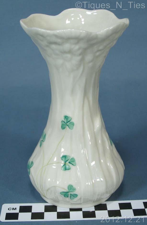 Vintage Belleek Vase Irish Belleek Porcelain 5 34 Vase Green