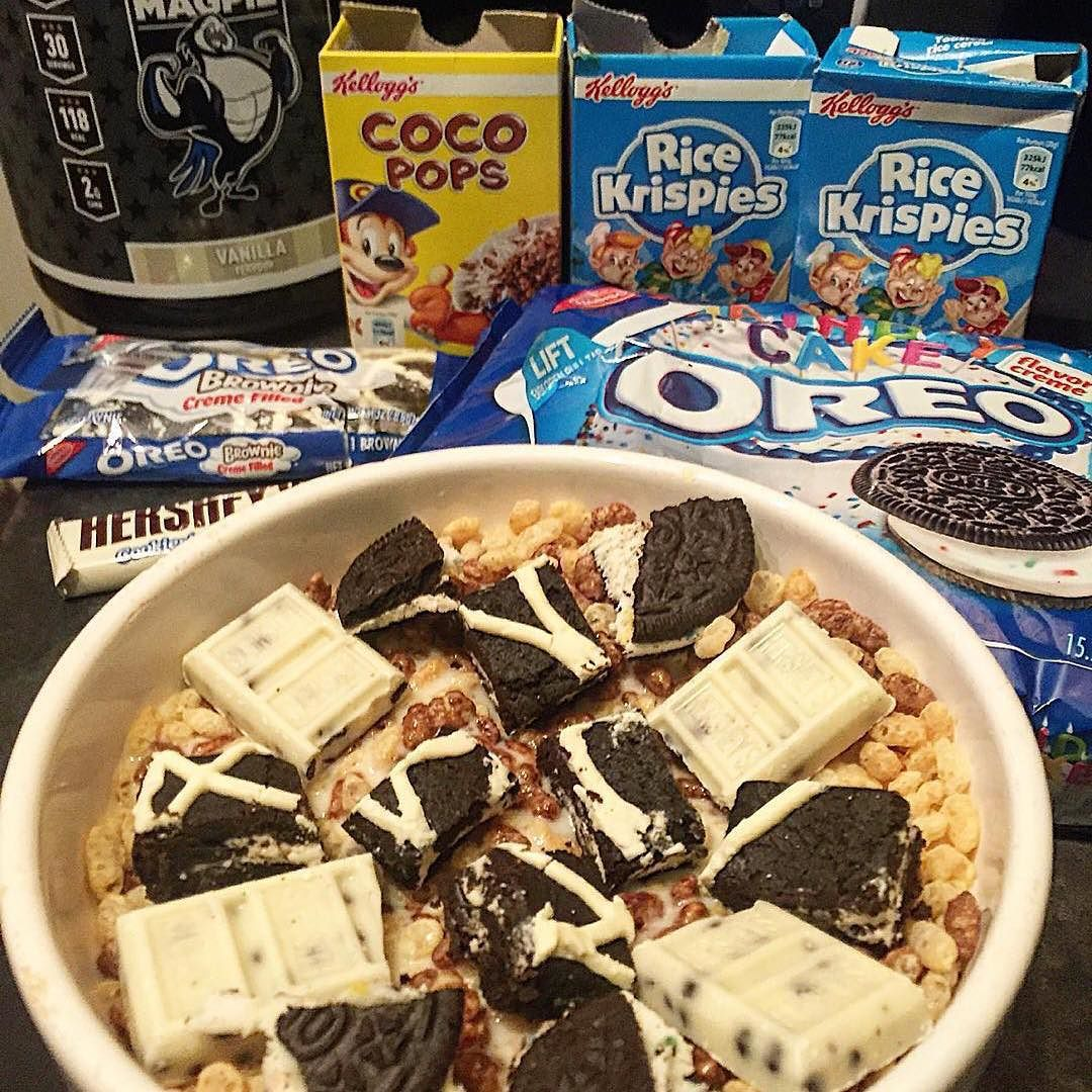 Repost ptheledge Feeling lazy so cereal it is Rice Krispies coco