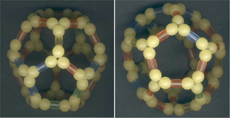 Dodecahedral C20 With Correct Bond Shape And Force Field Shapes Beaded Beads