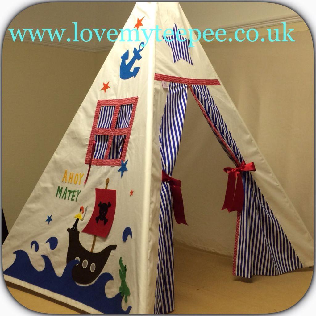 Love my teepee uku0027s leading handmade bespoke and personalised childrens teepee tents. Toys cushions play mats for boys and girls. & Pirate Teepee Kids Play | Peekaboo Teepees 0 - 12 | Pinterest ...