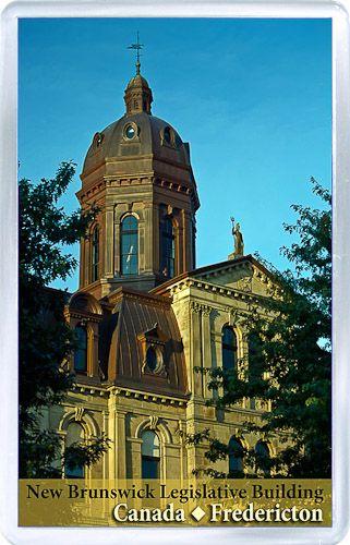 $3.29 - Acrylic Fridge Magnet: Canada. New Brunswick. Fredericton. New Brunswick Legislative Building