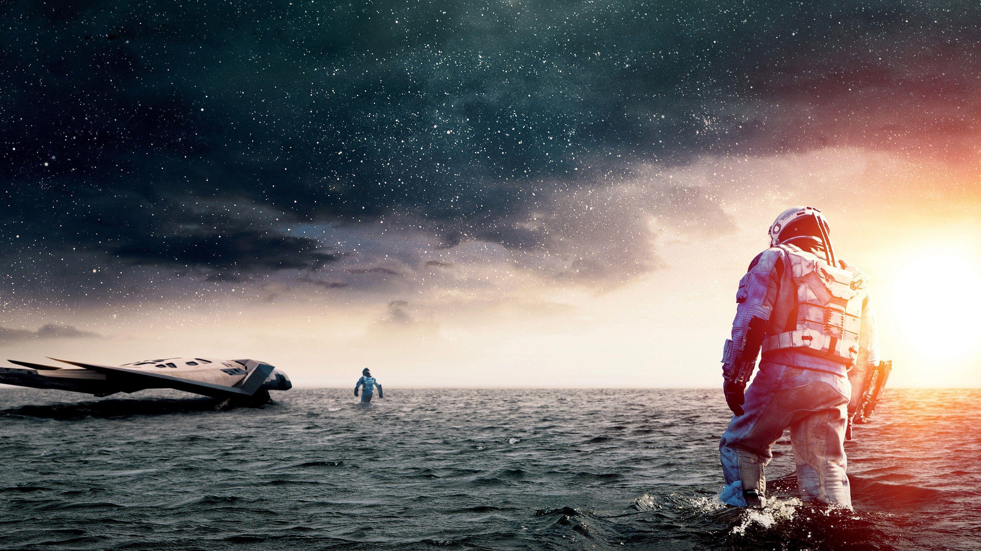 Interstellar Movie Movies Astronaut Sea 4k Wallpaper Hdwallpaper Desktop Interstellar Interstellar Movie World Movies