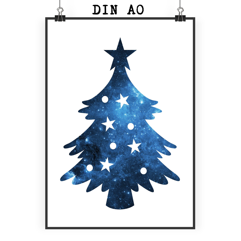 Poster DIN A0 Weihnachtsbaum aus Papier 160 Gramm weiß - Das ...