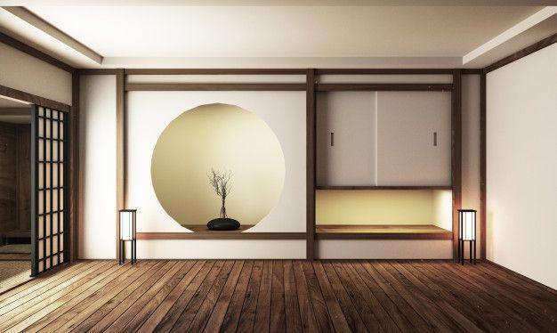 Japan Interior Design Modern Living Room 3d Illustration 3d