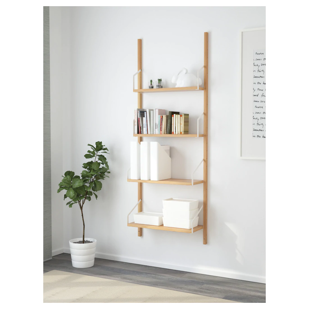 Svalnas Veggmontert Hyllekombinasjon Bambus Ikea In 2020 Wall Mounted Shelves Ikea Wall Mounted Shelves