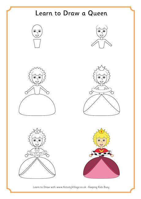 Learn To Draw A Queen CHILDREN Edu ART Step By