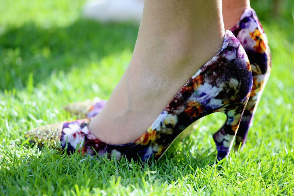 Princess Beatrice of York shoe detail during day one of Royal Ascot at Ascot Racecourse on June 17, 2014 in Ascot, England.