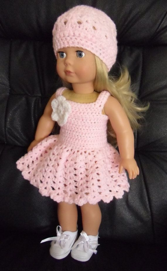 PDF Crochet pattern for summer dress and hat for 18 inch American ...