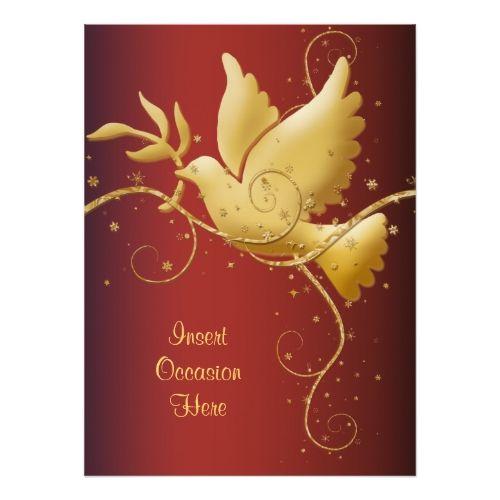 Dove Of Peace Christmas Invitation