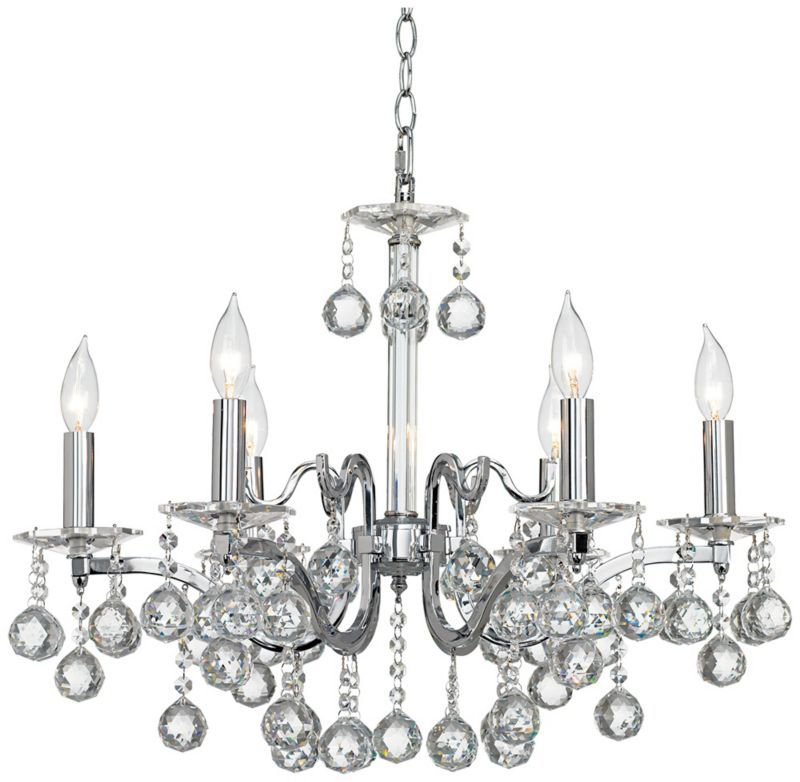 Vienna Full Spectrum Chrome With Crystal Ball Chandelier 499 99