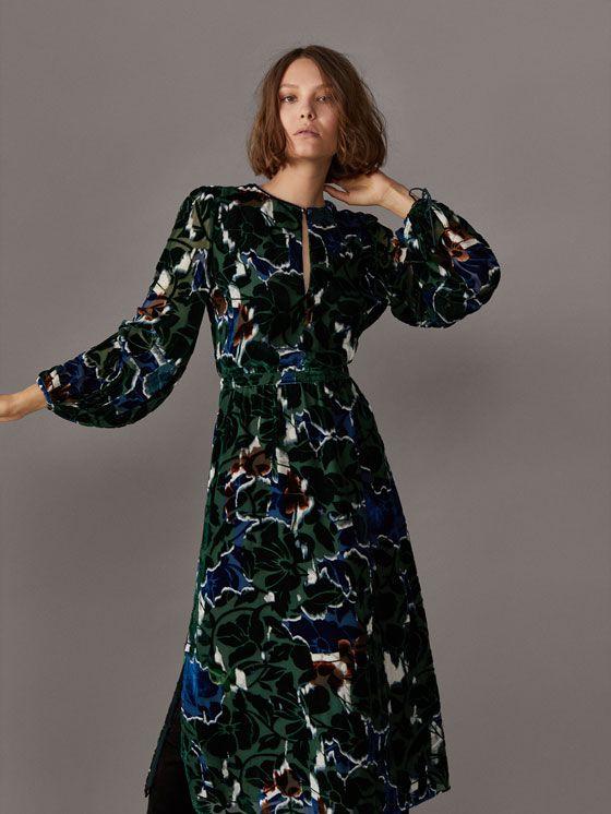 Fall Winter 2017 Women S Velvet Printed Dress At Mimo