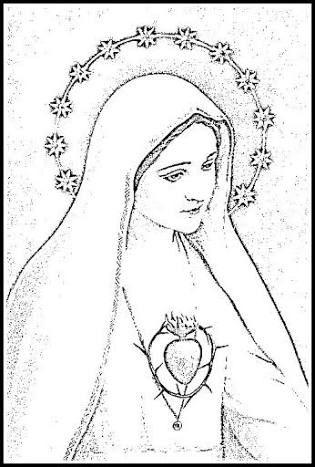 Resultado De Imagen Para Dibujo Virgen Maria Lapiz Virg