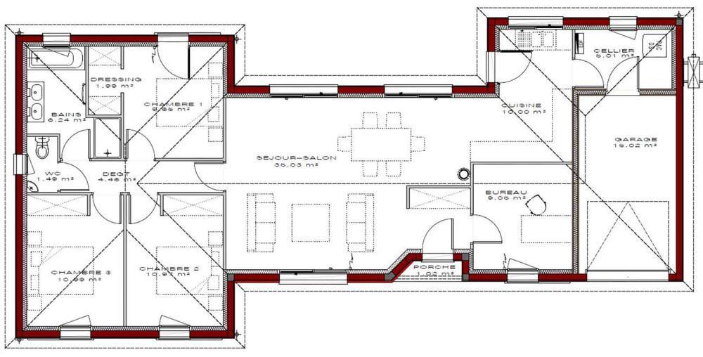 maison Gaia 105 IGC Construction plan maison Pinterest - simulation maison a construire