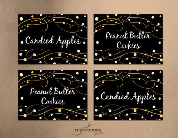 Instant Download Editable Holiday Buffet Labels Food Tent Cards Place Cards Diy Printable Printable Place Cards Food Label Template New Years Eve Party