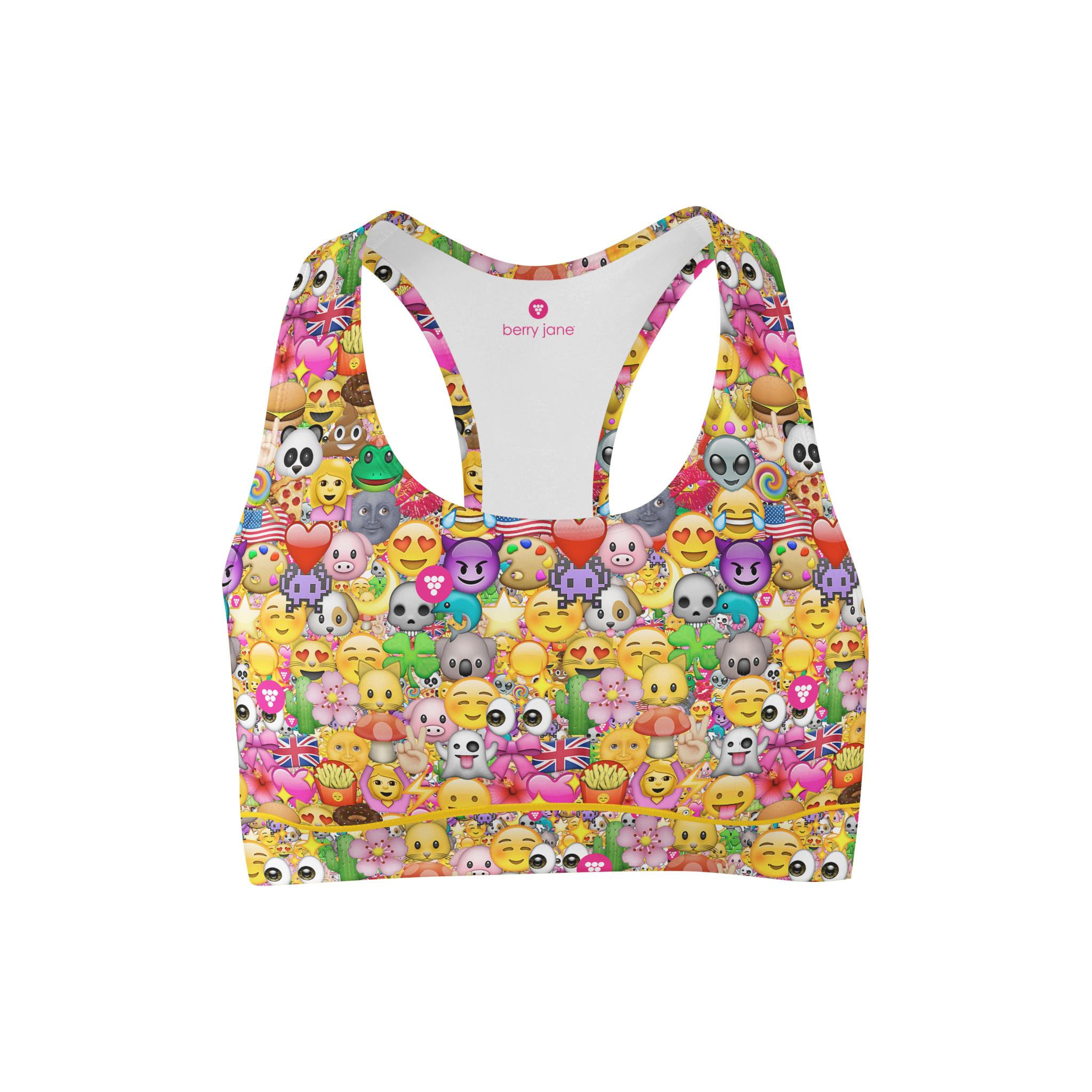 8f8f352c829b4 Emojis printed sports bra emoji pinterest bra emoji png 2048x2048 Emoji bra